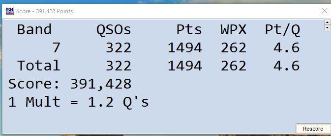 2020.5.30 CQ WW WPX CW コンテスト
